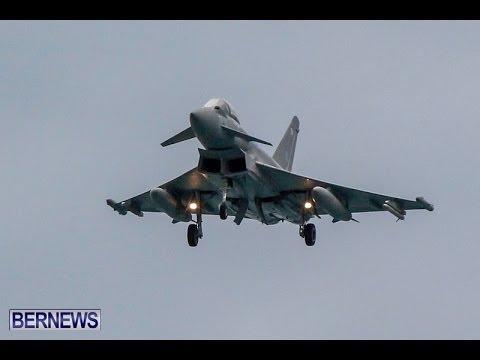 RAF Aircraft Landing In Bermuda, Jan 9 2014