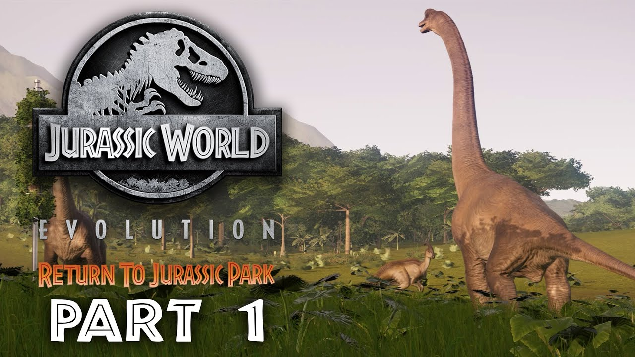 Jurassic World Evolution - VOLTA AO JURASSIC PARK guia - gameplay 1 - MISSÃO 1 e 2 + vídeo