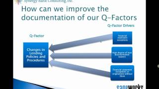 ALLL Methodology: How to Document Your Qualitative Factors?(This webinar covers ALLL regulatory trends, what examiners expect out of the allowance, FAS 5 methodology, and specifically the qualitative factors for FAS 5 ..., 2013-01-10T15:16:54.000Z)