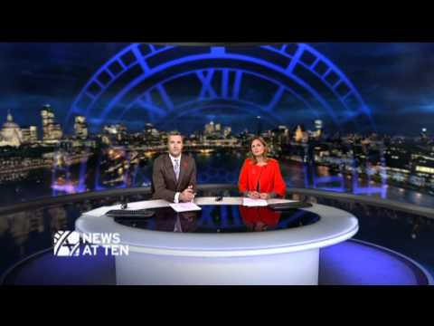 ITV News -- Final News at Ten from London Skyline set -- 30/10/09