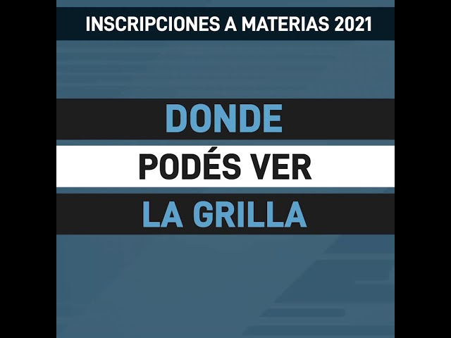 INSCRIPCIONES MATERIAS 2021