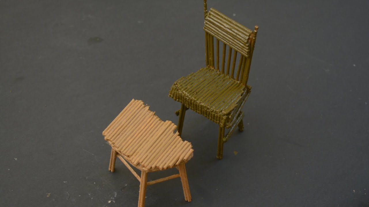 How to make Chair out of Toothpicks and Cardboard..!! - YouTube