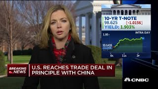 US reaches trade deal in principle with China