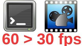 Convertir vidéo 60 fps en 30 fps en 1 ligne de commande sous Linux