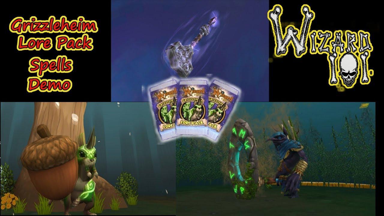 Wizard101 - Grizzleheim Lore Pack Spells Demo