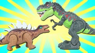Dinosaur Tyrannosaurus Rex Stegosaurus Walking Light and Sound Toy - Dinosaurs Toys For Kids