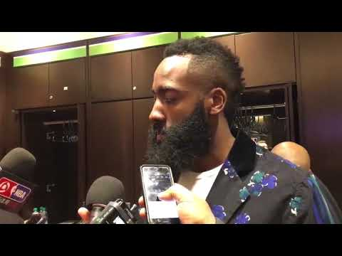 James Harden Postgame Interview / Rockets vs Timberwolves