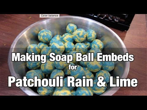 Patchouli Rain & Lime Cold Processed Soap + Making Soap Ball Embeds