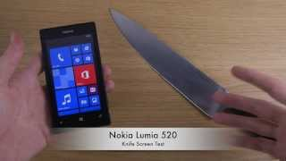 Nokia Lumia 520 - Knife Screen Test