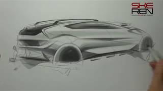 자동차 스케치 & 마카 사용법(Car Sketch & Marker)
