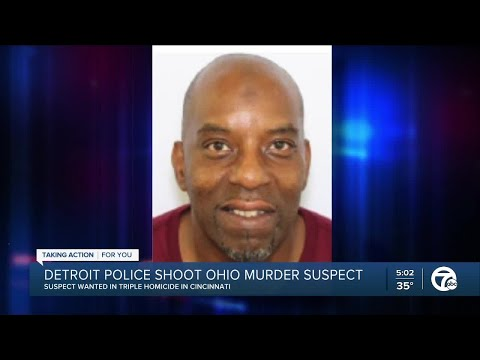 Detroit police shoot Cincinnati man, accused of killing 3 in Ohio, outside of motel