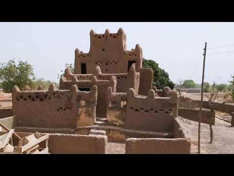 Drone Footage Of The Very Unique Wulugu Mud House In Ghana - West Africa Architecture!