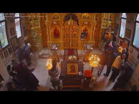 Великое повечерие с чтением первой части канона прп.Андрея Критского (видеокамера №1)