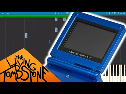 Gameboy Advance SP Blue Edition Creepypasta Song - Piano Cover / Tutorial - The Living Tombstone