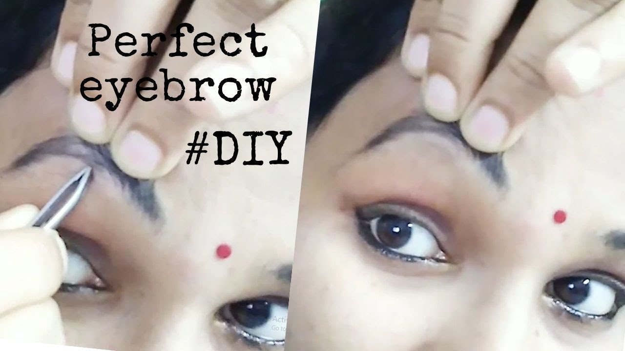DIY   Perfect Eyebrow Threading at Home   Simple & Easy ...