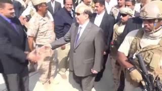 شاهد موكب الرئيس هادي اثناء وصوله الى عدن في ال26 من نوفمبر 2016م