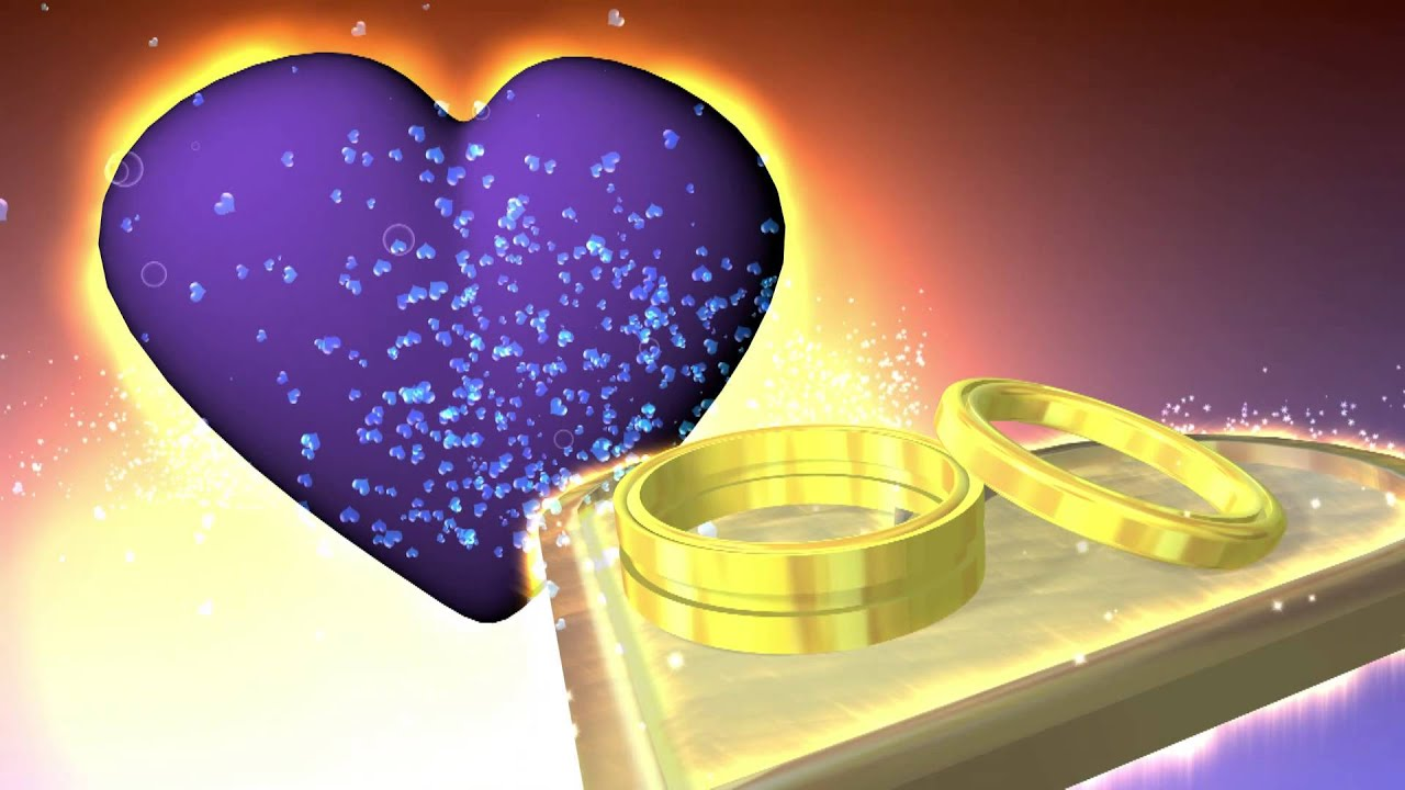 Hearts And Wedding Ring Animation Scene Free Footage Stock Background Video Effect AA VFX