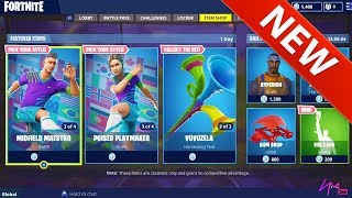 'NOUVEAU' 8 WORLD CUP SOCCER SKINS - RED CARD EMOTE! Retour Bling et 3 Pioches - Fortnite Battle Royale
