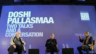 المحادثة مع BV دوشي و الجهني Pallasmaa في البنغال العمارة الندوة
