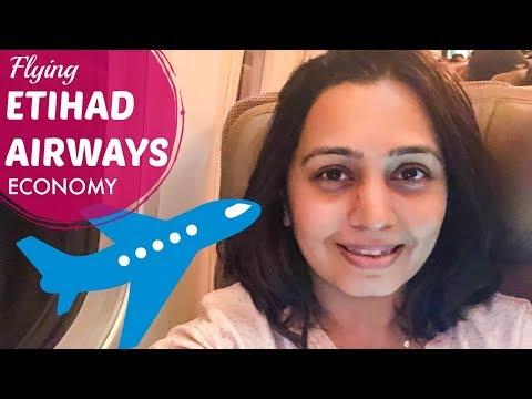 ETIHAD AIRWAYS Economy Class Experience | Abu Dhabi to Mumbai Flight