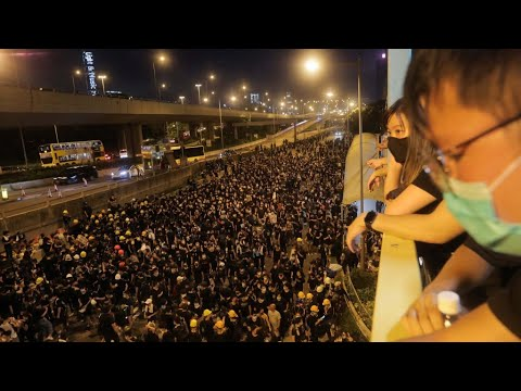 Hong Kong rally targets Beijing's liaison office