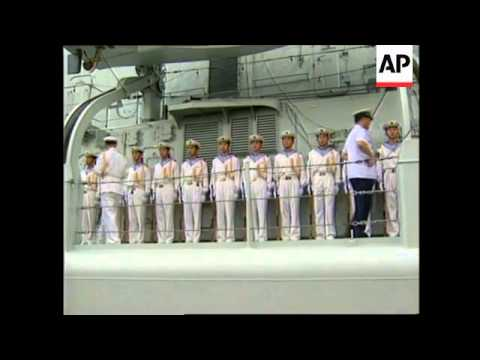 PHILIPPINES: MANILA: 2 CHINESE WARSHIPS ARRIVE ON GOODWILL VISIT