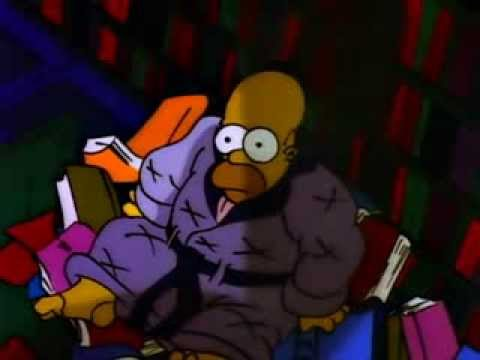"The Simpsons' take on Edgar Allan Poe's ""The Raven"", from the first Halloween episode"