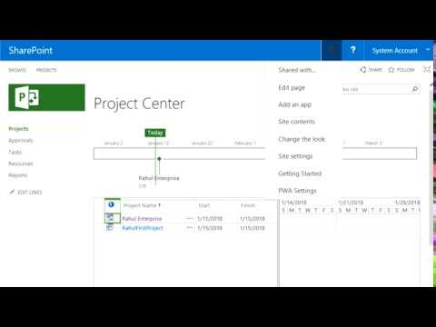 Convert SharePoint Task list to Enterprise Project in PWA - YouTube