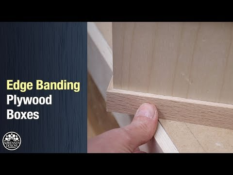 Edge Banding Plywood Boxes // Perfect Miter Joints