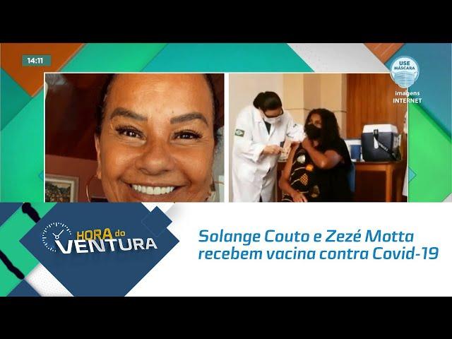 Solange Couto e Zezé Motta recebem vacina contra Covid-19 no Retiro dos Artistas