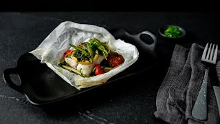 Oven-Baked Fish Parcel With Lemon Butter