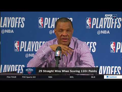 Alvin Gentry following series sweep of Blazers | Game 4 Pelicans vs. Blazers