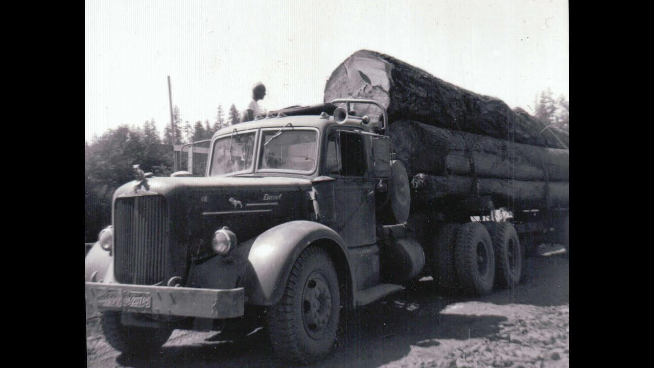 David Hull S 1951 Mack Lf Red Logging Truck Youtube