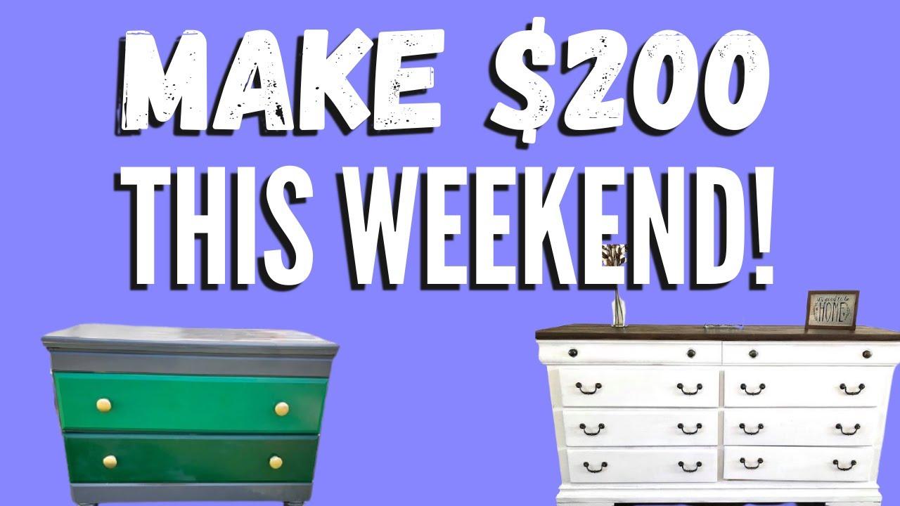 How to Flip Furniture for PROFIT: $150-250 per Flip!