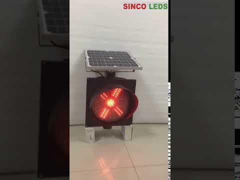 solar traffic warning signs