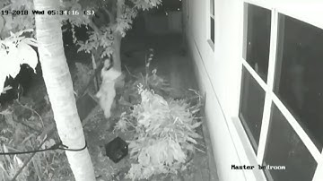 Man caught on camera masturbating in front of girl's window