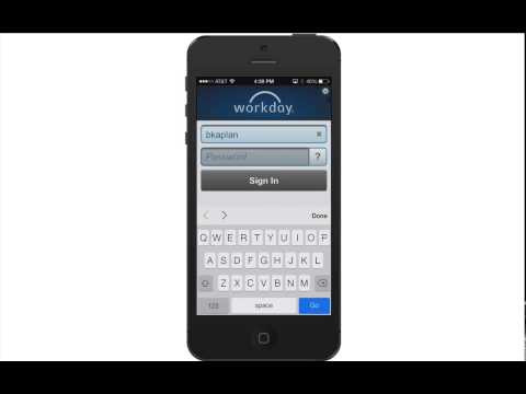 How to Install and Log in to Workday for iPhone - YouTube