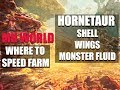 MONSTER HUNTER WORLD - WHERE TO SPEED FARM: HORNETAUR SHELL, WINGS AND MONSTER FLUID