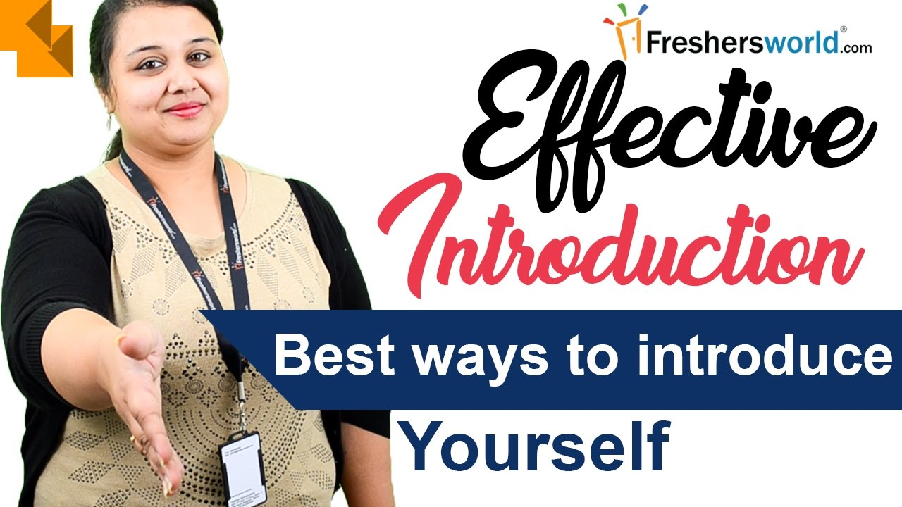 Effective Introduction  U2013best Ways Of Introducing Yourself
