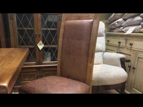 Wood Bros Chatsworth Dining Table & Chairs Demonstration