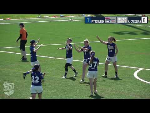 2018 College Championships: University of Pittsburgh vs University of North Carolina