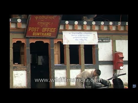 Bumthang Post Office in the 1990s,  Bhutan