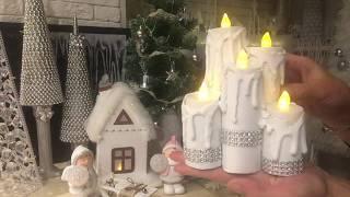 Новогодний декор своими руками! Свечи! Домики!