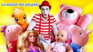 Compilation de vidéos pour enfants. Barbie et les jouets en peluche. Baby Born et Baby Annabell.