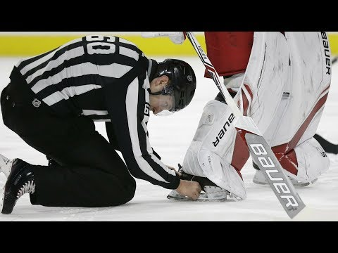 NHL: Puck Stuck in Equipment