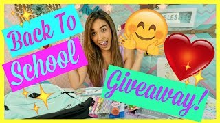HUGH BACK TO SCHOOL GIVEAWAY!! (2018)