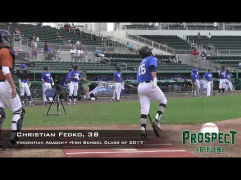 Christian Fedko Prospect Video, 3B, Vincentian Academy class of 2017