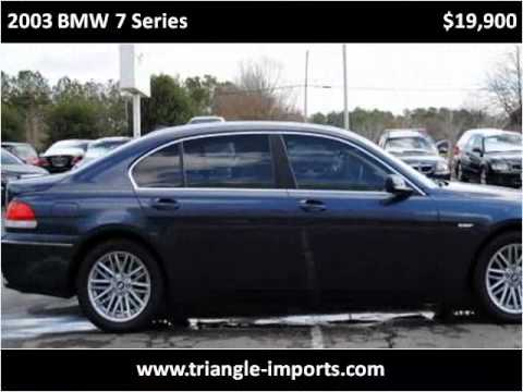 2003 BMW 7 Series available from Triangle Imports