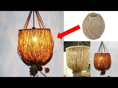 Wind chime from jute  || wall hanging idea from jute || Home decoration idea with waste jute