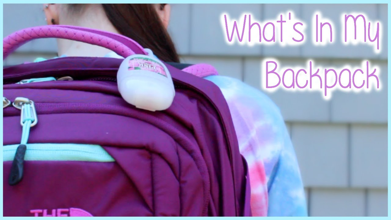 865180c31 WHAT IS IN MY NORTH FACE RECON BACKPACK | Allie Young